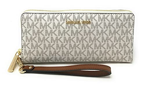 Michael Kors Jet Set Travel Continental Zip Around Leather Wallet Wristl