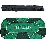 GYFHMY Tappeto da Poker in Gomma Portatile, Piano da Tavolo Texas Hold'em con Disposizione...