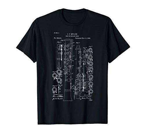 Patente de instrumento de oboe Banda Camiseta