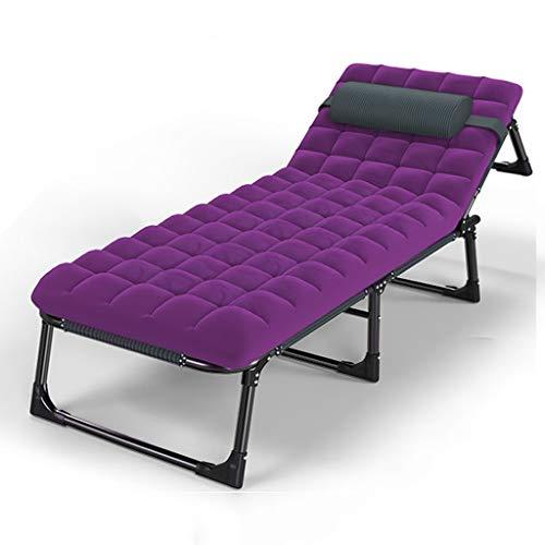 Chair-Camel Tumbona reclinable Silla de jardín con Almohadilla Silla Plegable portátil de Playa Tumbona y Cojines Tumbona para Personas Pesadas Acampar al Aire Libre
