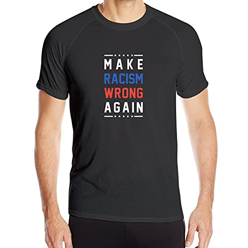 WAUKaaa Make Racism Wrong Again - Camiseta de manga corta con cuello redondo para hombre, talla Xxl