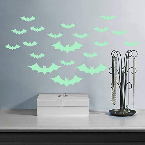 ZHAOZX Halloween-Wandaufkleber Fledermaus-Maske Geister Stranger Things Poster Art Sticker bewegliche Familie Party Dekoration