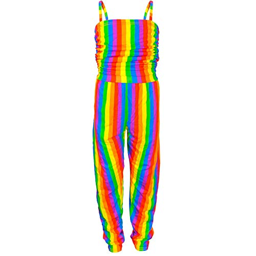 A2Z 4 Kids® Kinder Mädchen Designer Regenbogen Kleider - Rainbow Jumpsuit 7-8