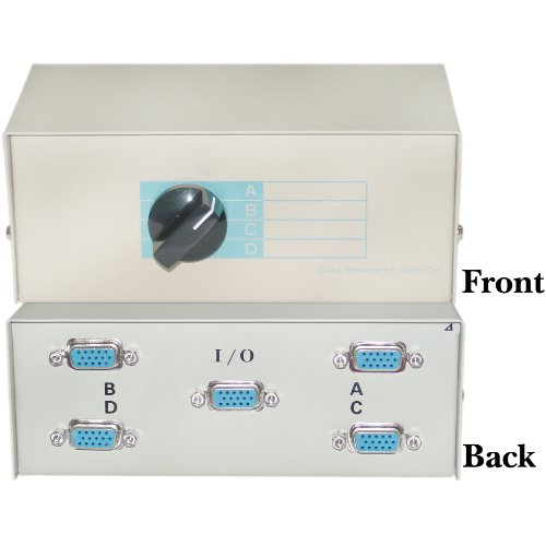 ABCD 4 Way Switch Box, HD15 (VGA) Female
