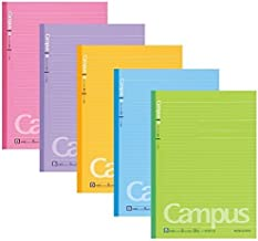 Kokuyo Campus Notebooks Semi-B5 Pre-Dotted, 6 mm Ruled, 30 Sheets - 60 Pages, Vitamin Colors (1 set / vitamin color)