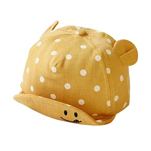 BBABBT Cute Dot Baby Caps - Gorros de Verano para bebés, niñas y niños, Sombrero de Playa para el Sol con Orejas, Accesorios de fotografía para niños, para niños de 6 a 24 Meses