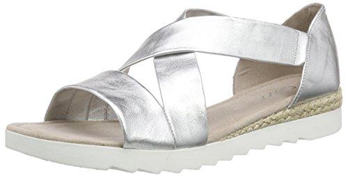 Gabor Shoes 42.711 Damen Offene Sandalen, Silber (10 silber), 38 EU