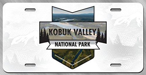 JMM Industries Kobuk Valley National Park - Placa de matrícula de Metal con impresión UV de Metal DE 15,2 cm por 30,4 cm para Coche, camión, Remolque, Remolque, Tienda de Pared, Hombre, Cueva UVP113