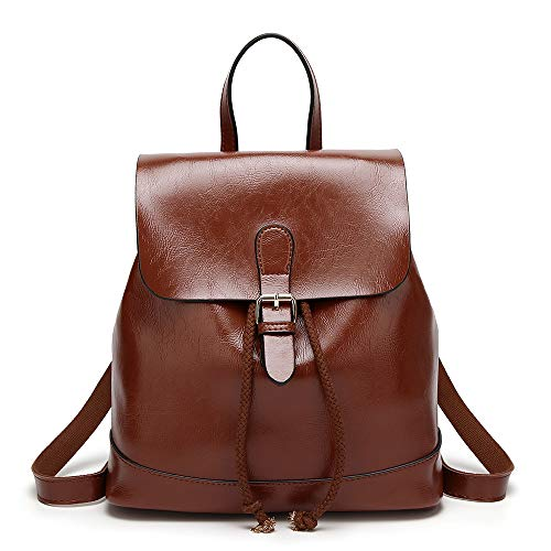 Mini Babala Women's Vintage PU Leather Backpack Handbags, Faux Leather Casual Daypack...