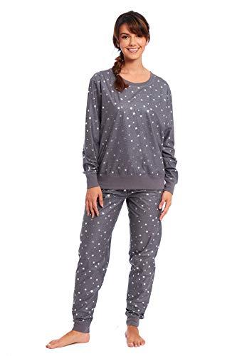 Habigail Damen-Schlafanzug, Loungewear, Oberteil und Hose, Nachtwäsche Gr. Small,...