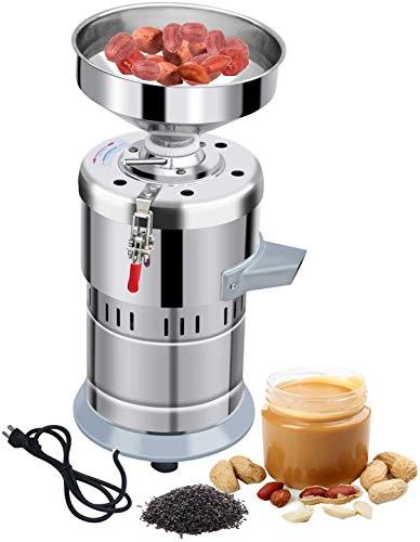 Commercial Sesame Peanut Butter Machine, Electric Peanut Butter Maker Machine 1100W 30000g, 110V Peanut Nut Paste Butter Sesame Sauce Grinder