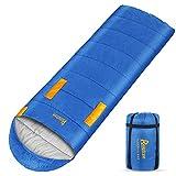 Relefree Saco de Dormir Resistente al Agua, Ideal para Acampar, IR de Excursión, al Aire Libre, Mochileros (Cremallera Derecha)