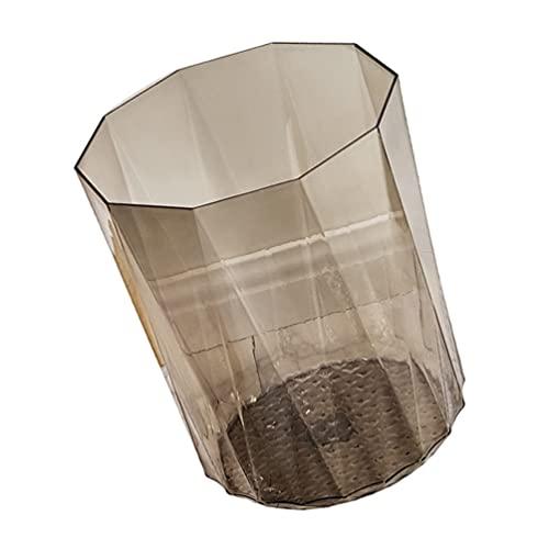 Garneck Mini Cestino di Plastica Trasparente Desktop di Spazzatura Cestino Penna Cup Holder Spazzatura Bin Casa E Ufficio Controsoffitto Spazzatura può Nero 13. 5Cm* 13. 5 Centimetri*