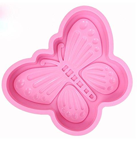 JasCherry Silikon Backform für Schokolade, Cupcakes, Kuchen, Muffinform für Muffins, Pudding, Eiswürfel und Gelee - Schöner Schmetterling