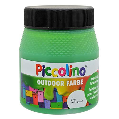 Piccolino Outdoor Dekofarbe Grün 250ml - umweltfreundliche Bastelfarbe für draußen