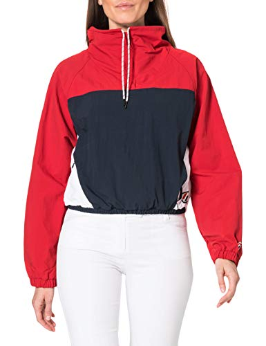 Superdry Overhead Cropped Cagoule, Color Rojo, M para Mujer
