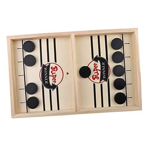 Amasawa Brettspiel Hockey,Schnelles Sling Puck Spiel,Katapult Brettspiel,Bouncing Brettspiel,Tisch Hockey Brettspiel,Geeignet für Interaktive Spielzeugpartyspiele für Kinder