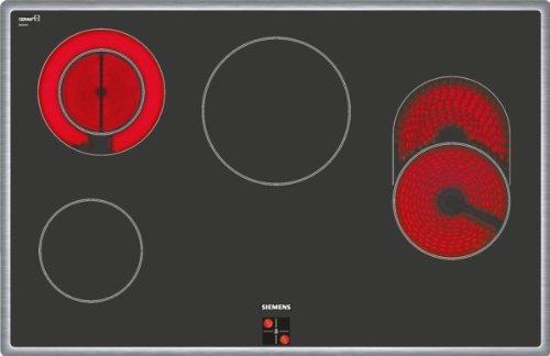 Siemens EA845GN17 iQ300 Kochfeld / 79.5 cm / Flachrahmen-Design-Glasschutzbedruckung / 4 highSpeed-Kochzonen, davon-1 mit zuschaltbarer Bräterzone- 1 Zweikreis-Kochzone / schwarz