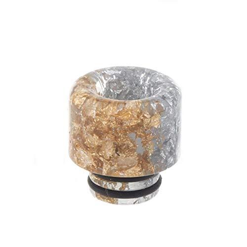 1 stücke 510 halbe Dollar Harz Tropfspitze Für Ijust S / TFV8 Baby / TFV12 BABY PRINCE/Stick M17 (Halb Gold Und Halb Silber) Frei von Tabak und Nikotin