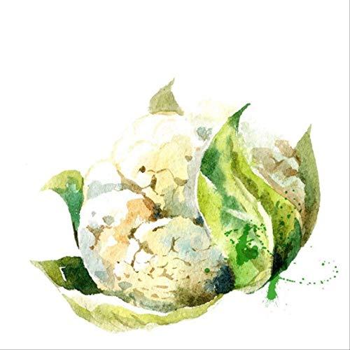 Preisvergleich Produktbild tytuoling DIY Digitale Malerei Aquarell Obst Moderne Hängende Wandkunst Bild Malerei Abstrakte Küche Dekoration Home Art Rahmenlose 50X50 cm