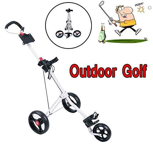 ZXL Chariot de Golf léger, Chariot de Golf Pliant Push Pull, Nouveau Chariot de Golf Pliable 2020, Une Seconde pour Ouvrir et Fermer, pour Les Voyages en Plein air/Sports et Loisirs