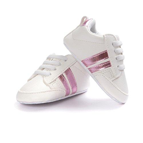 Zapatos de bebé, Kfnire Zapatillas de Deporte Casuales para bebés Zapatos de Suela Blanda Antideslizantes recién Nacidos (4.3 Pulgadas / 0-6 Meses, 06)