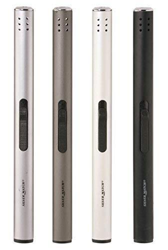 DRULINE 4er-Set Stabfeuerzeug 17 cm Silber Anthrazit Weiß Schwarz