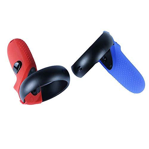 MASiKEN Schutzhülle für Oculus Quest / Oculus Rift S, Silikon, Blau / Rot