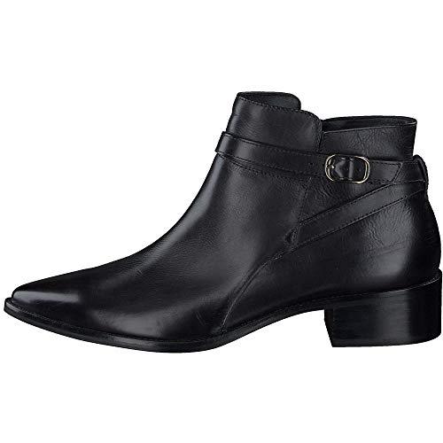 Paul Green Damen Stiefelette, Frauen Ankle Boots, feminin elegant Women's Woman Freizeit leger Stiefel halbstiefel Bootie,Schwarz,7 UK / 40.5 EU