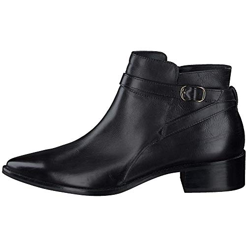 Paul Green Damen Stiefelette, Frauen Ankle Boots, Stiefel halbstiefel Bootie knöchelhoch reißverschluss weiblich Lady Ladies,Schwarz,4 UK / 37 EU