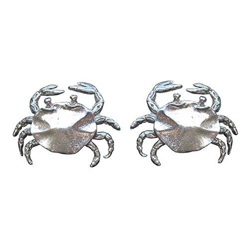 Kiwi Boutons de Manchette Crabe, Fait à la Main, en Etain, Fabrication Française, Made in France