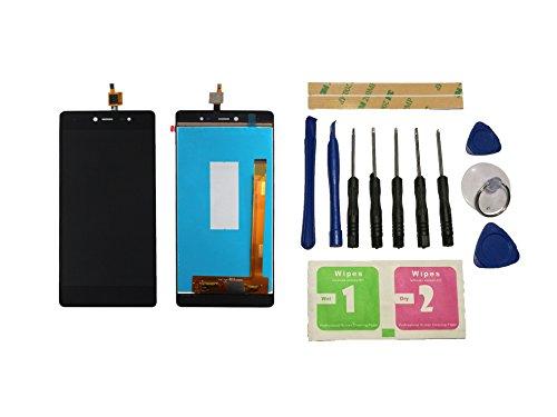 Flügel para Wiko Fever 4G Pantalla LCD pantalla Negro Táctil digitalizador Asamblea Pantalla ( sin marco ) de Recambio & Herramientas