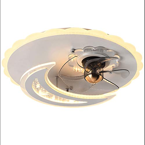 Ventiladores para el Techo con Lámpara 20 '' de techo moderna Ventilador con luz de iluminación remota Ventilador de techo LED de control de techo regulable luz de la habitación de los niños Sala de e