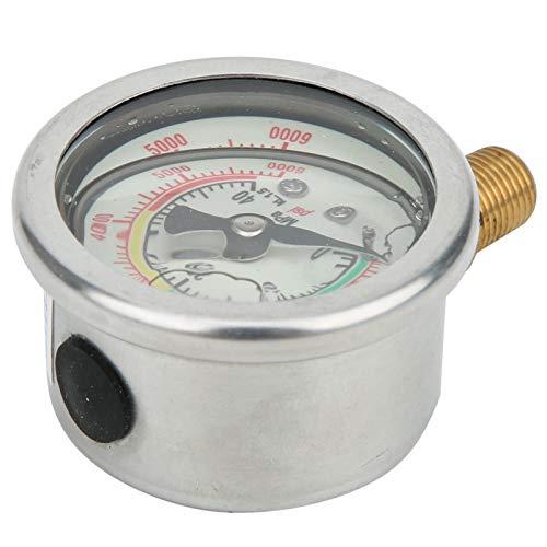 Manómetro de acero inoxidable claro y preciso a prueba de golpes, para inflador de 40MPA a prueba de golpes