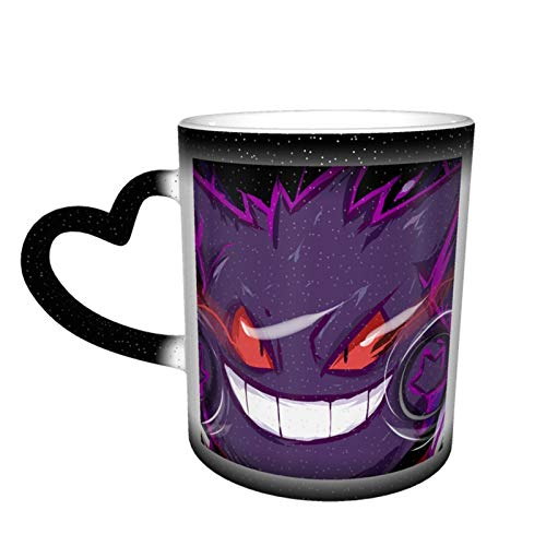 Gengar - Taza de té de cerámica con diseño cambiante de color, para amantes de la familia, amigos, oficina y hogar, regalo de salud