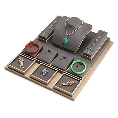 Espositore per gioielli in metallo Set di espositori per gioielli con porta anelli Set per espositori per gioielli in vendita in vendita, Espositori per gioielli, Stile dieci, 49 cm × 39 cm × 1,3 cm