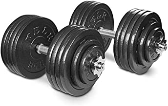 TELK Adjustable Dumbbells (200 LBS Pair) with Gloss Finish and Secure Collars, 65 with Connector, 105 to 200 lbs