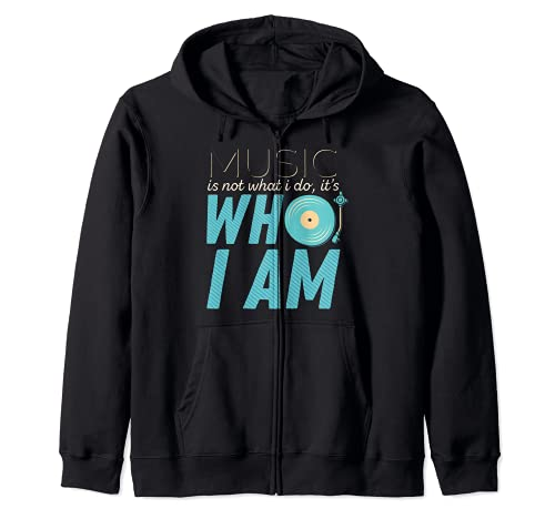 Music Is Not What I Do It's Who I Am Music Lover Regalos Sudadera con Capucha