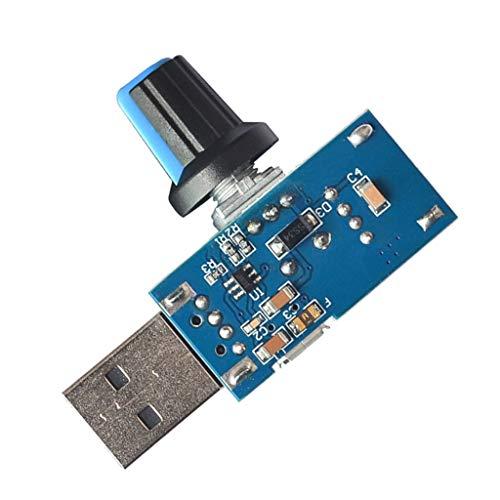 freneci Interruptor Regulador de Volumen Del Controlador de Velocidad Del Ventilador USB Mudo DC 4V-12V 5W