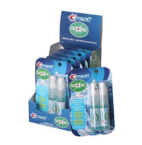 Crest Scope | Peppermint Breath Mist - 0.24 ounce (7mL) 2-pack sprayers, 6 count (12 spray) display