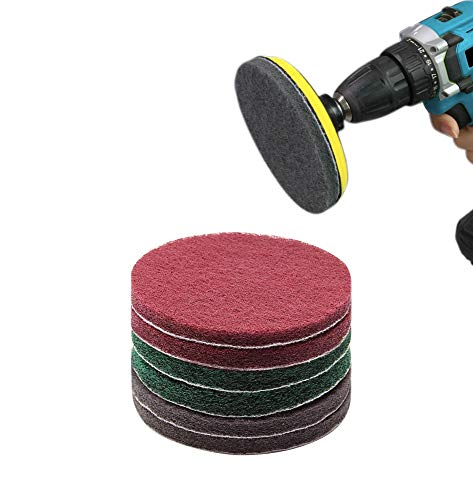 ZITENGZHAI WYS-PGP, 8pcs 5' 125mm Drill Powered Brush Tile Scrubber Scouring Pads Cleaning Kit Hook and Loop Abrasive Tools (Size : 8pcs 125mm)