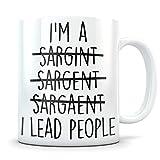 Regalo sergente, tazza sergente, promozione sergente, apprezzamento sergente, miglior sergente, regalo sergente divertente, sergente promosso