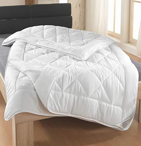 Dreamhome Trennbare Echte 4-Jahreszeiten Bettdecke Steppbett Stepp-Decke Ganz-Jahresdecke mit Druckknöpfen für Sommer und Winter, Größe:240 x 220 cm