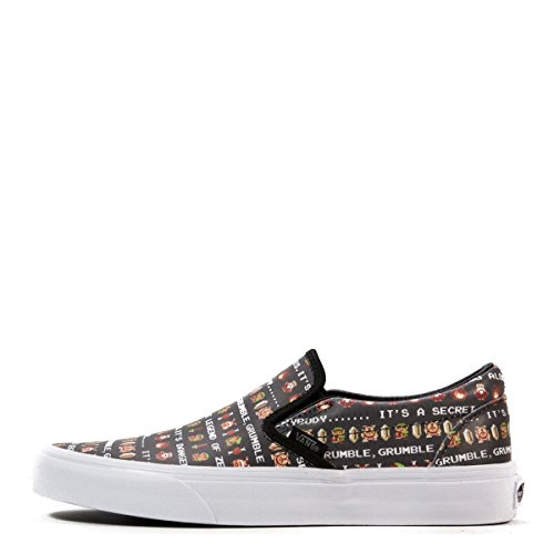 Vans Unisex Classic Slip-On Nintendo Zelda/Black, Mens 6 Womens 7.5