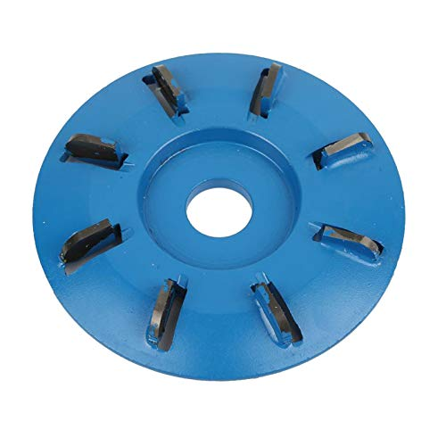 Baoblaze Potencia Turbo de 8 dientes, herramienta de disco para tallar madera, fresa para amoladora angular de apertura de 16mm - Azul
