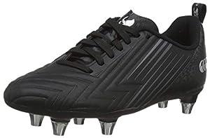 canterbury Boy's Speed 3.0 Plus Junior Soft Ground Rugby Shoe, Black/Dark Grey/Light Silver, 13 UK from Canterbury