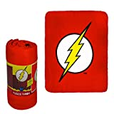 JPI Fleece Throw Blanket - The Flash Logo - Lightweight Faux Fur Fleece Blanket Large 50'x 60' - for Beds, Sofa, Couch, Picnic, Travel, Camping