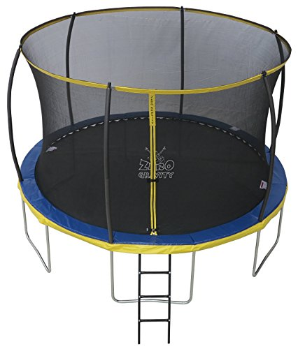 ZERO GRAVITY 6ft / 8ft / 10ft / 12ft / 14ft Ultima 4 High Spec Trampoline with Safety Enclosure Netting and Ladder (10ft)
