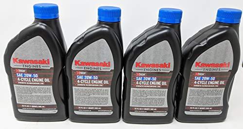Kawasaki Pack of 4 99969-6298 Genuine OEM K-Tech SAE 20W-50 4-Cycle Engine Oil