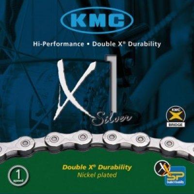 Fahrradkette KMC X1 f. Nabenschaltung 1/2 x 3/32 110 Glieder 6,7 mm - 2